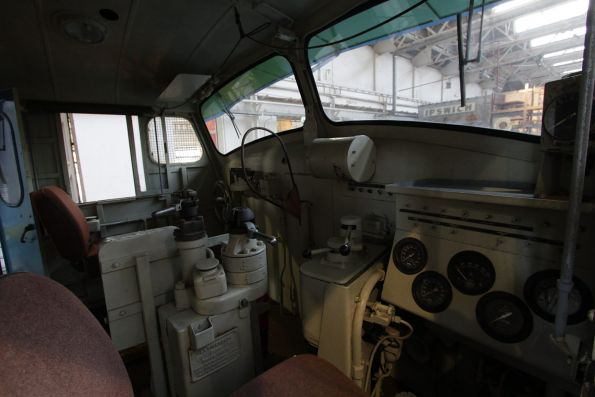Cab of QR diesel locomotive 1262