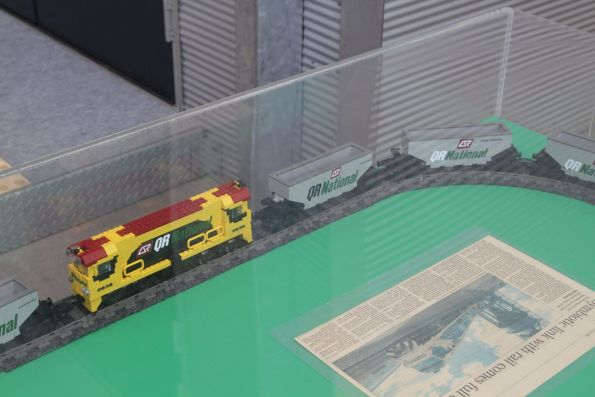 Lego model of a QR National coal train