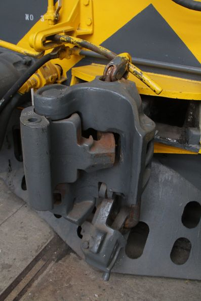Knuckle coupler in the open position