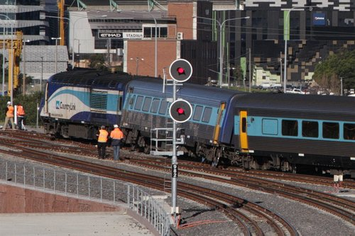 XPT derailed outside Southern Cross - July 11, 2014