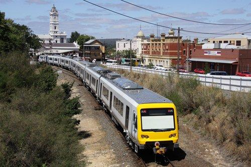 Arrival into Ballarat station