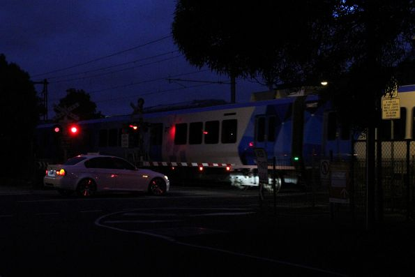 X'Trapolis train passes through Spotswood on the delivery run to Epping