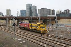 P14 and T363 cut off the transfer at Melbourne Yard