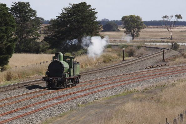 Passing the junction of the lines to Ballarat and Maroona