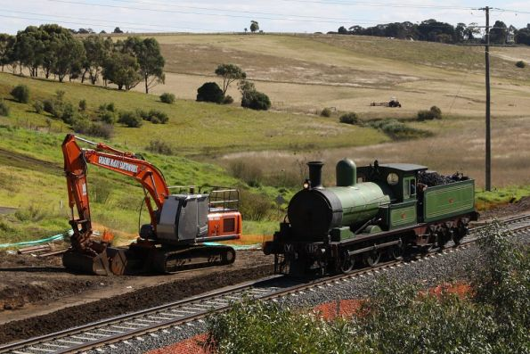 Passing track duplication works at Bell Post Hill