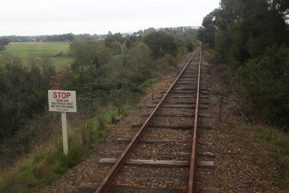 Current end of the line at Tunnel Hill