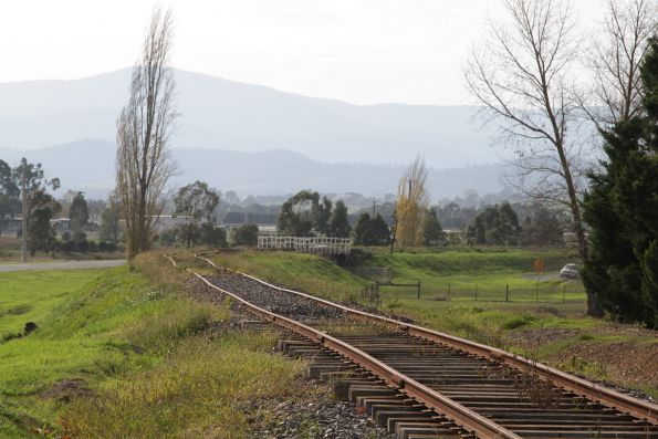 Looking down the line from the Melba Highway roundabout at Yarra Glen