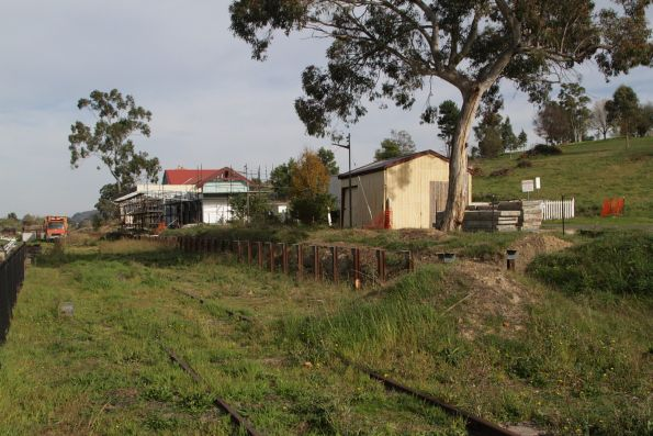 Platform yet to be rebuilt at Yarra Glen