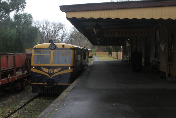 Walker railmotor RM22 awaiting departure time from Healesville