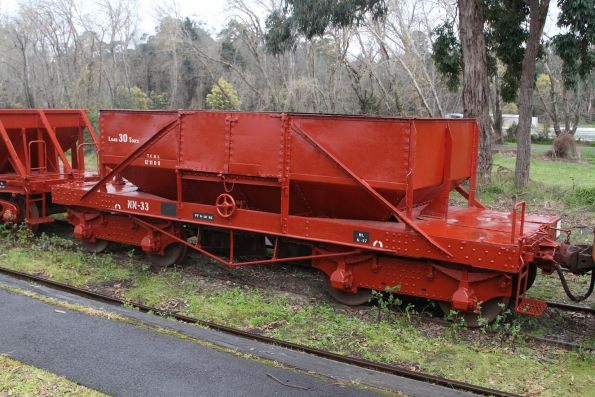 Ballast wagon NN33 at Healesville