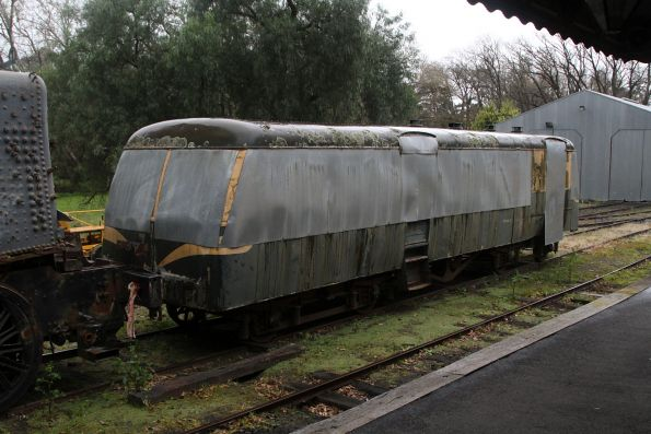 Stored Walker railcar trailer at Healesville