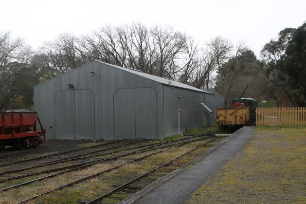 Rolling stock shed at the down end of Healesville yard