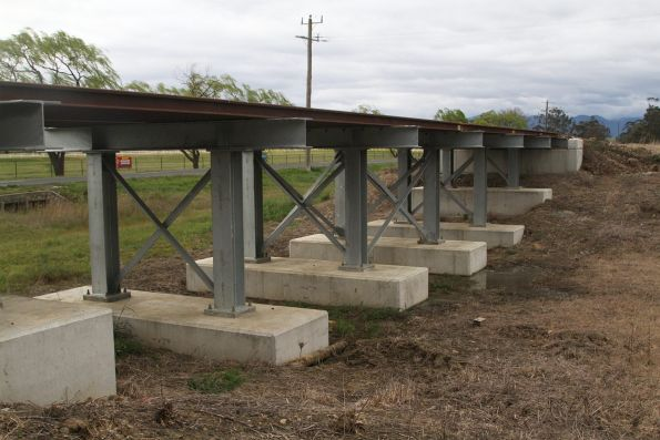 Bridge under restoration at the down end of Yarra Glen