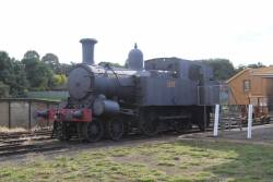 Partly restored Z13 class loco 1307