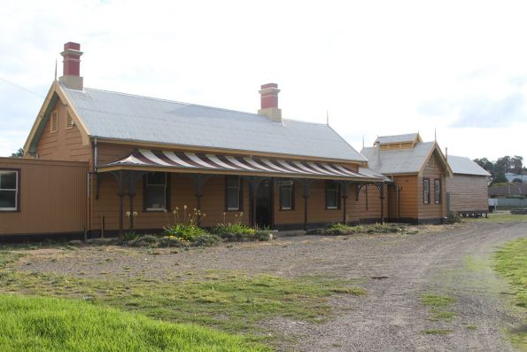 Street side of the station building at Yass Town, now the Yass Railway Museum