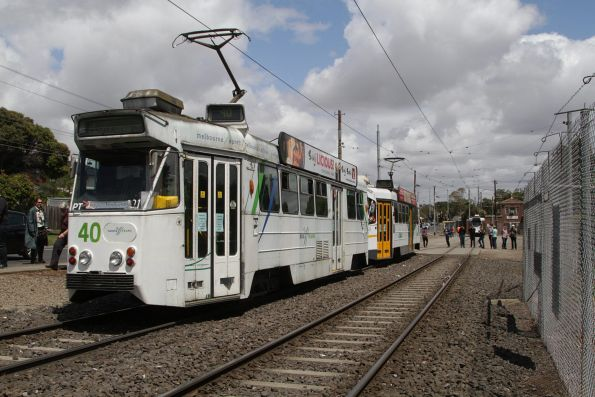 Z1.22 and Z2.101 wait short of the route 57 terminus at West Maribyrnong