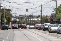 Driver throws the points at Moonee Ponds Junction so that Z2.101 can shut back towards the city